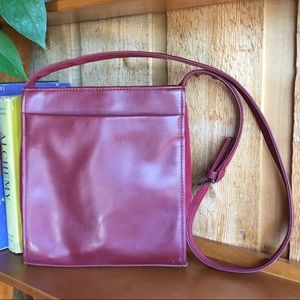 Nine West Maroon Burgundy Crossbody Purse Square